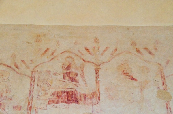 13th century Nativity wall painting
