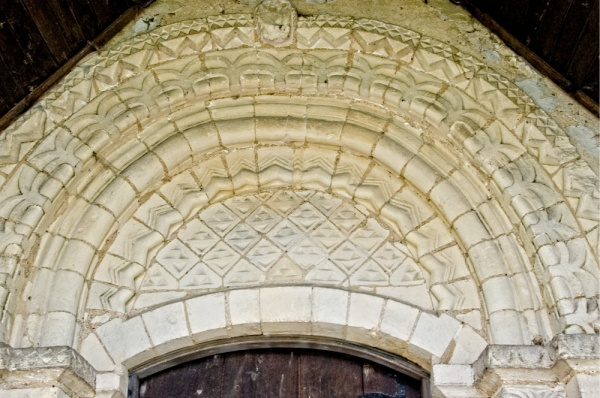 The richly carved Norman south doorway