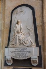 Witney, St Mary's Church, White marble monument to Edward Batt (d. 1853)