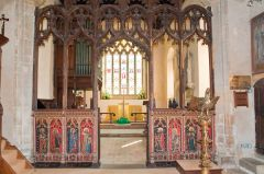 The late medieval painted screen