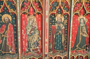 Restored 15th century painted screen