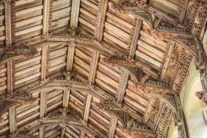 The double-hammerbeam angel roof