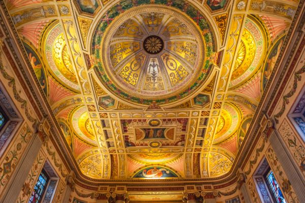 Worcester College, Oxford photo, Another look at the astonishing chapel ceiling