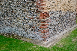 Roman brick quoins, Wormingford