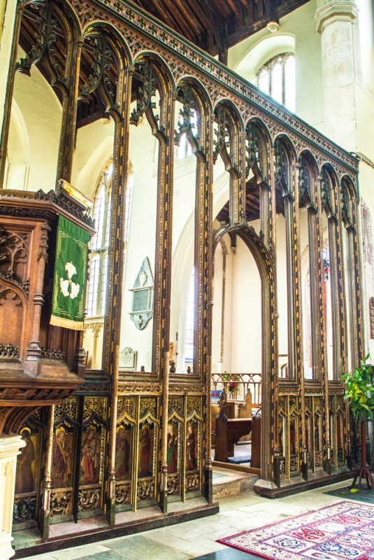 The early 16th century chancel screen