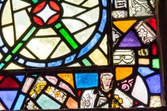 Reassembled medieval stained glass