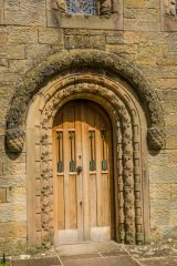 The beautifully carved west doorway