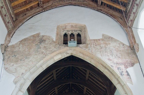 The medieval Doom painting over the chancel arch