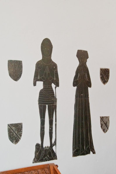 Brasses of John Norwich (d. 1428) and his wife