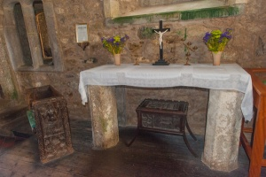 Norman altar slab and the mermaid chair