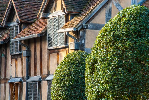 Shakespeare's Birthplace photo, Beautiful timber-framing on the garden frontage