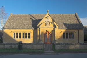 The Gentleman's Reading Room (built 1904) now acts as the village hall