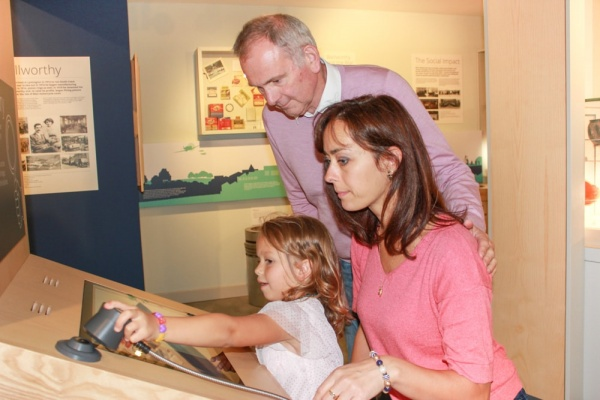 Three generations explore the St Barbe Museum