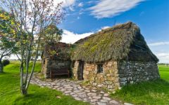 Thatched cottage, Culloden Battlefield