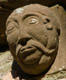 Kilpech church carved head