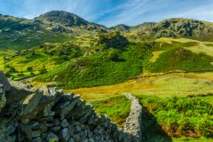 Drystone wall in Little Langdale, Lake District