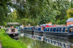 Boats moored on Oxford Canal