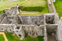 Portchester Castle from above