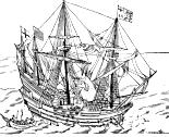 English ship in action against the Spanish Armada