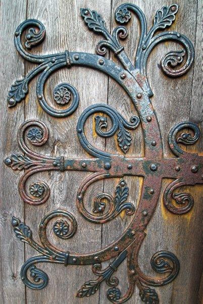 Strapwork Hinge St Magnus Cathedral Kirkwall Orkney