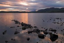 Lake Menteith, in the Trossachs of Central Scotland