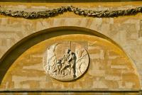 Neoclassical medallion, Stowe House, Buckinghamshire