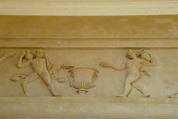 Stowe House, frieze, south porch