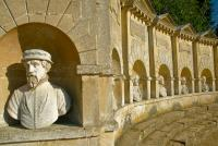Stowe Landscape Garden, statue niches on the Temple of British Worthies