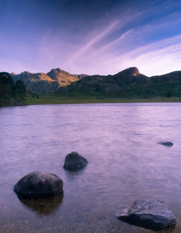 Blea Tarn at sunrise, Langdale, Cumbria