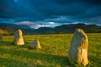 Castlerigg stone circle at evening