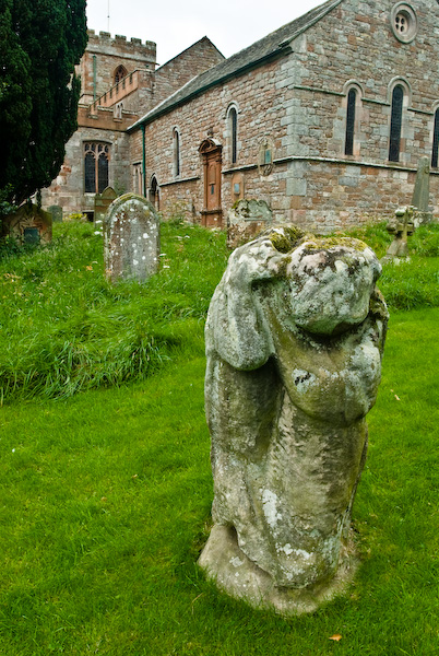 Bear statue at Dacre church, Cumbria
