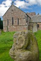 Statue of a bear, Dacre church, Cumbria