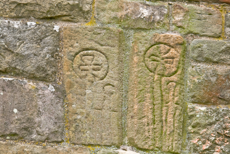 Photo of ireby old chapel viking carvings