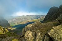 Scafell Pike and Mickledore, western Lake District