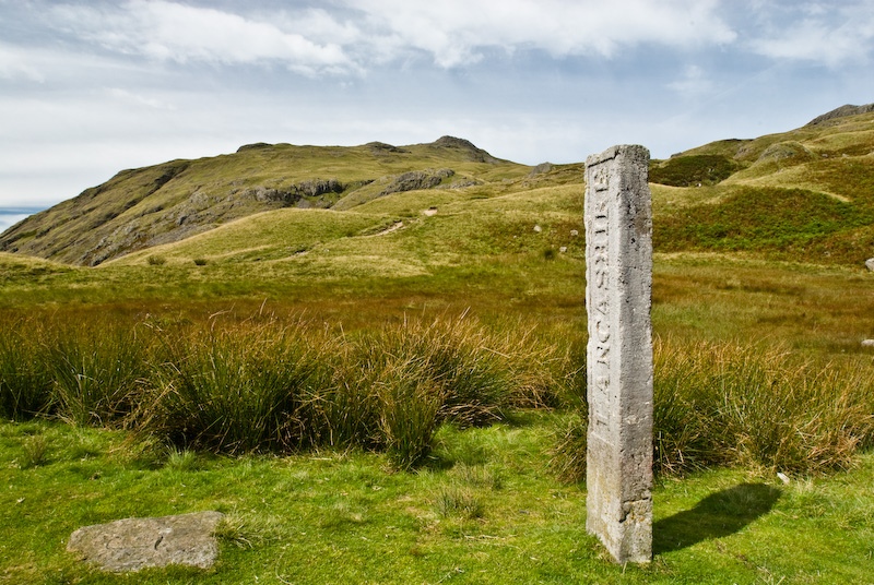 Three Shire Stone, Wrynose Pass, Lake District