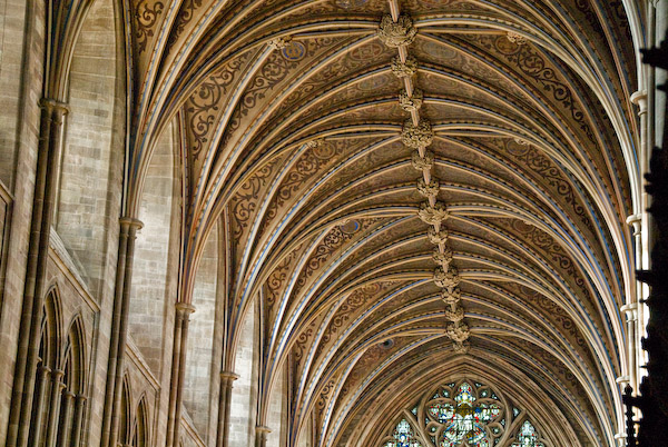 Photo Of Hereford Cathedral North Aisle Vaulted Ceiling