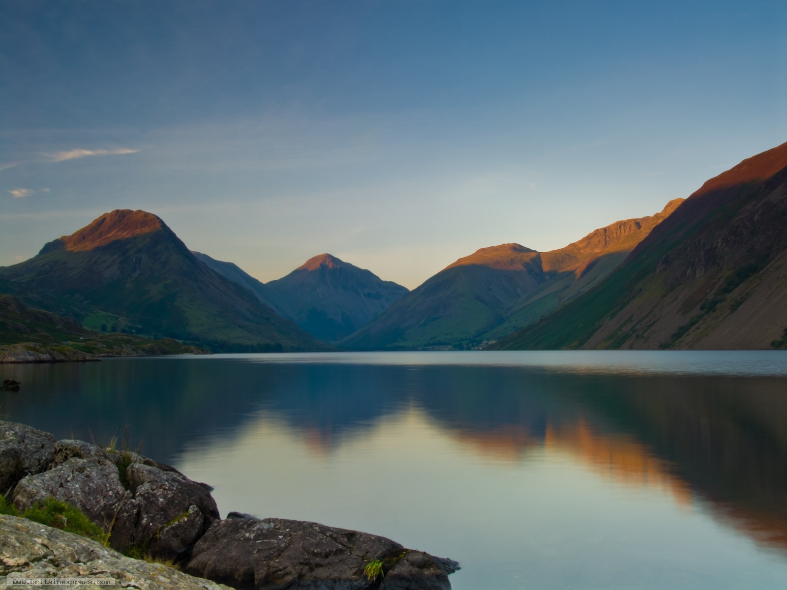 Photo Of Wast Water Late Summer Evening