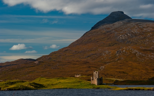Ardvreck Castle and Loch Assynt
