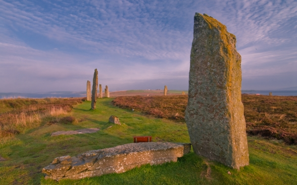 Ring of Brodgar at dawn, Orkney