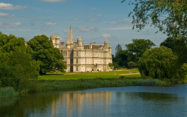 Burghley House from the Palladian bridge
