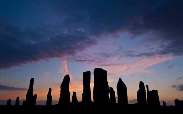 Callanish Standing Stones at dusk