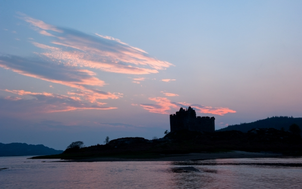 Castle Tioram sunset