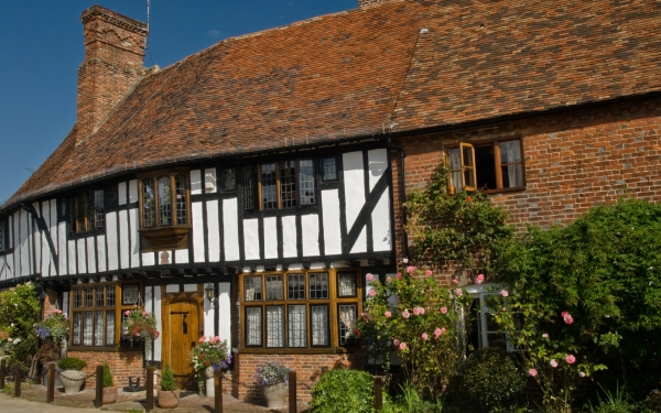 Half-timbered cottage, Chilham, Kent