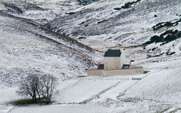 Corgarff Castle in Winter