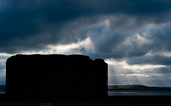 Flint Castle at Dawn