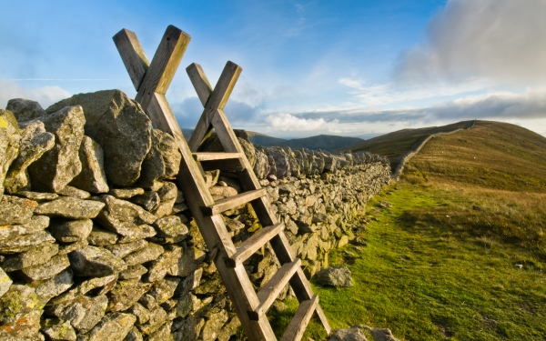 Helvellyn drystone wall, Lake District