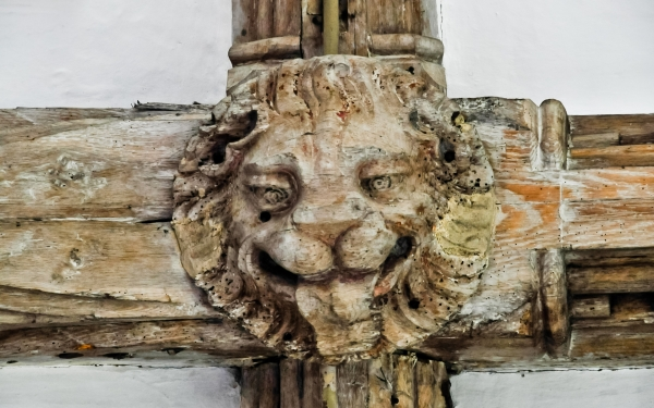 Medieval roof boss, Kersey church