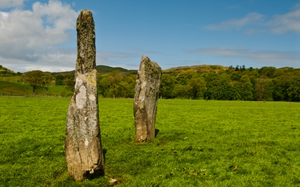 Lady Glassary Wood Standing Stones