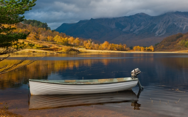 Boat on Loch Coulin, Wester Ross