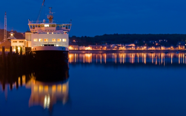 Rothesay Harbour at Night, Isle of Bute